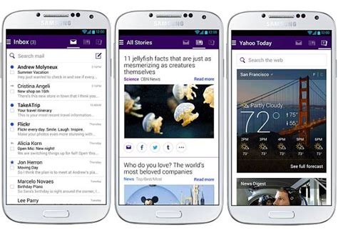 yahoo mail app for iphone overhauled yahoo mail app for android now available for