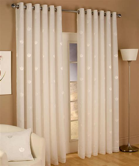 Crushed Voile Curtains Uk by Ivory Fully Lined Eyelet Crushed Voile Curtain