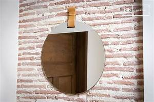 Miroir D Entrée : grand miroir d 39 entr e sangle en cuir mural et circulaire pib ~ Teatrodelosmanantiales.com Idées de Décoration