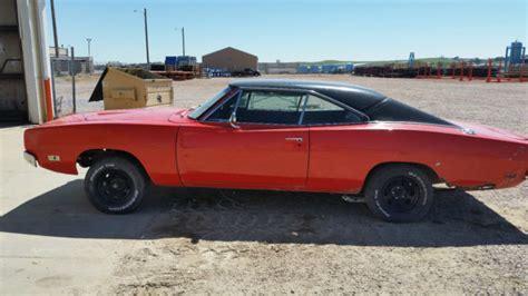 1969 dodge charger project car with original orange paint 1968 1970