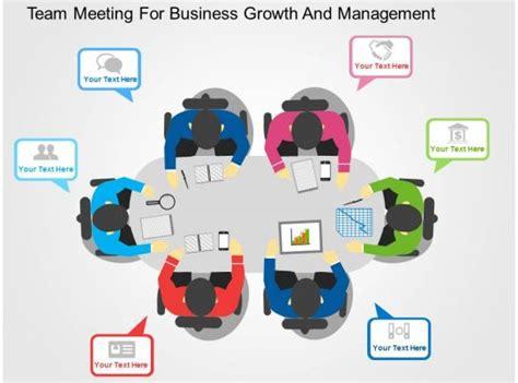 team meeting  business growth  management flat