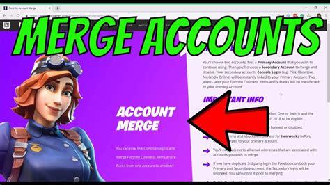 merge accounts  fortnite season  epic games