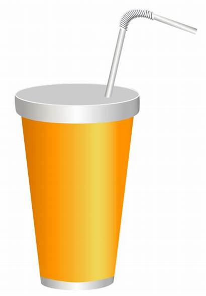 Cup Drink Clipart Plastic Yellow Clip Drinks