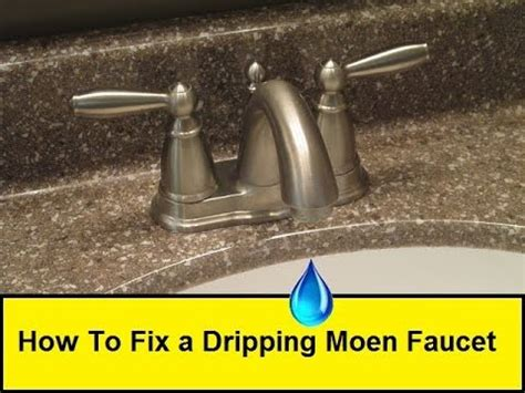 fix  dripping moen faucet howtoloucom youtube