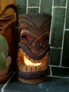 Tiki Head Lantern On Behance