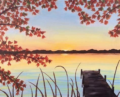 paint nite autumn dock