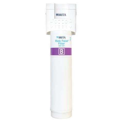 brita under sink water filter brita redi twist 1 stage drinking water filtration system