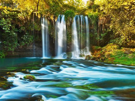 waterfall duden  antalya turkey wallpaperscom