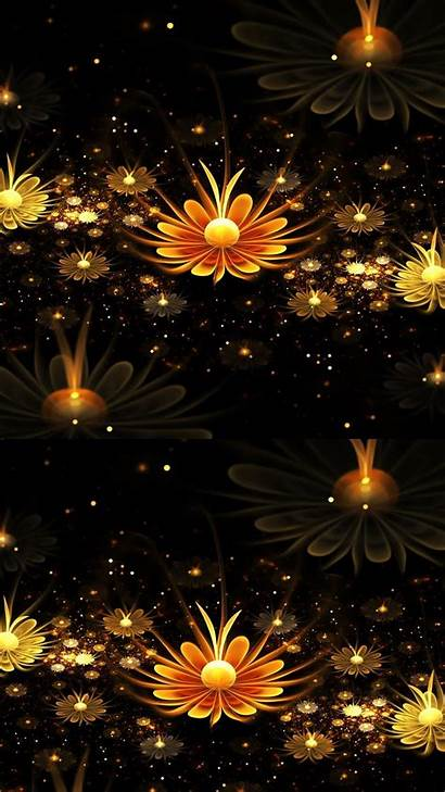 Android Wallpapers Flower 3d Mobile Phone Gold