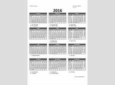 2016 Excel Yearly Calendar 05 Free Printable Templates