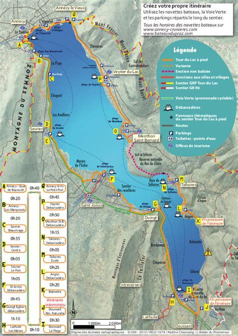 du lac  pied tourisme annecy