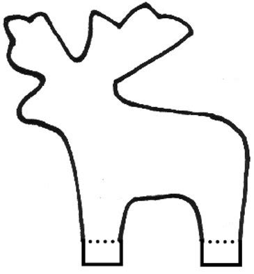 reindeer template cut out coloring pages of reindeer pattern template coloring pages