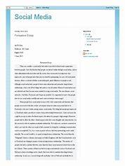 short argumentative essay about social media