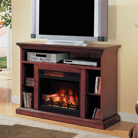 tv cabinet with fireplace beverly 23 quot premium cherry media console electric 6412
