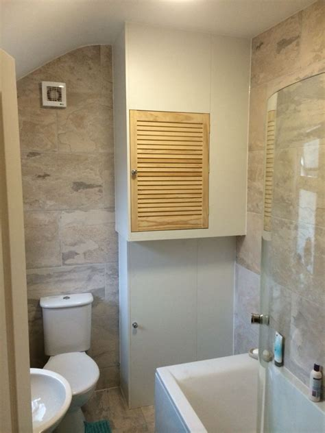 bathroom cupboard ideas built in boiler cupboard and storage unit ideas para la