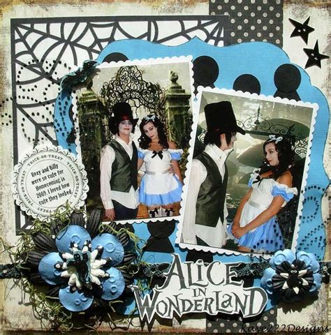 images  scrapbooking ideas alice  wonderland  pinterest