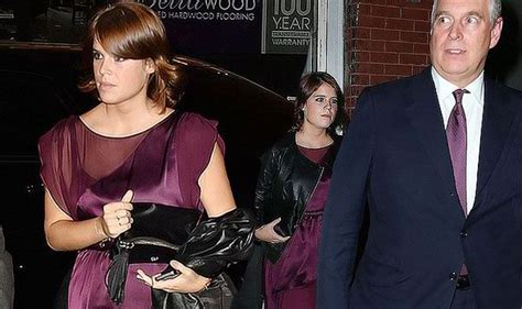 Daddy's girl! Princess Eugenie shows off her pins on