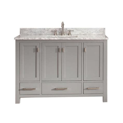 shop avanity modero chilled gray undermount single sink