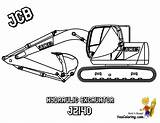 Coloring Pages Construction Machines Jcb Digger Excavator Digging Mighty Colour Loader Dozer Yescoloring Pic Popular sketch template