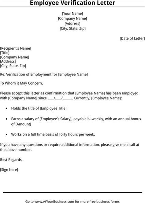 Employment Verification Letter Template | Templates&Forms | Pinterest | Letter templates