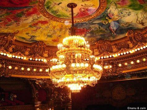 le grand lustre et le plafond de chagall palais garnier photo
