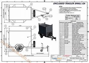 enclosed trailer plan drawings assembly guide pictures With single axle trailer ke wiring diagram