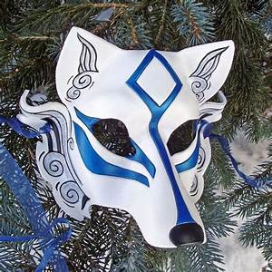 Blue Okami Leather Mask, using kabuki imagary but ...
