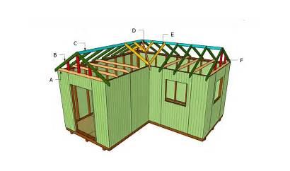 Roof Shaped Plans Build Building Garage Shed