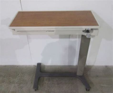 used hospital bed table for sale used hill rom pm jr bedside table for sale dotmed
