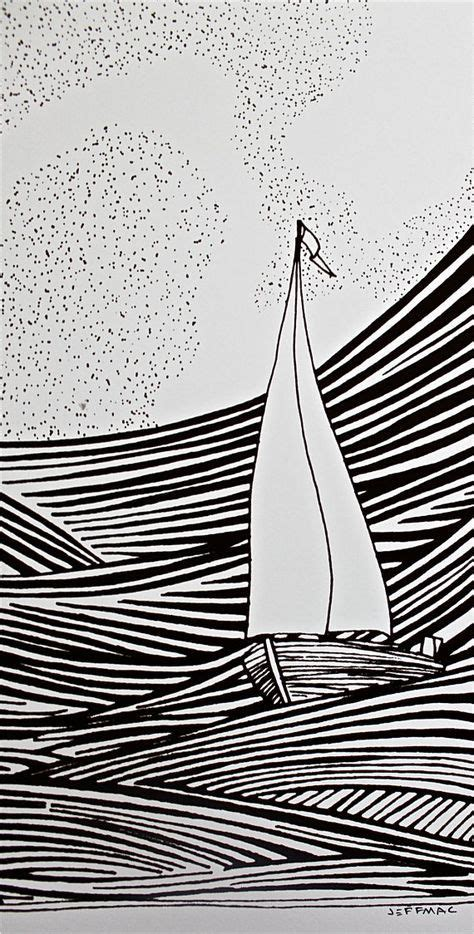 Boat Art Drawing by Best 25 Sailboat Drawing Ideas On Pinterest
