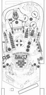 Pinball Machine Template Poor Playfield Artwork Sketch Autocad sketch template