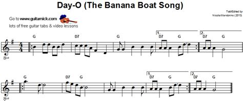 THE BANANA BOAT SONG Easy Guitar Lesson: GuitarNick.com