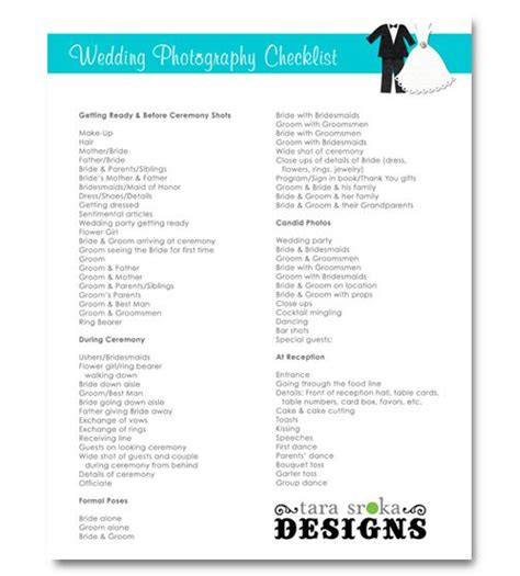 wedding photography checklist bridal  photography