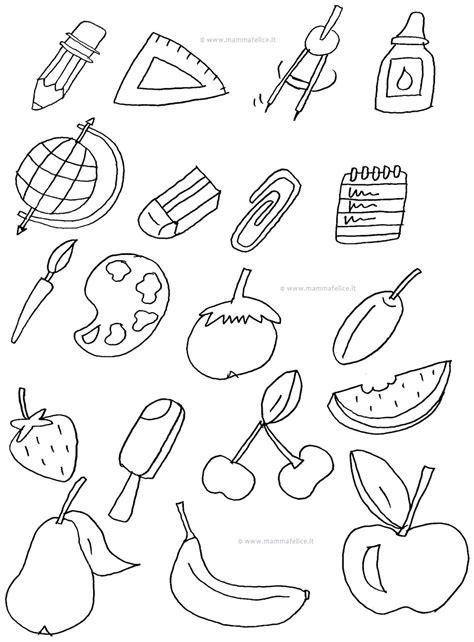 disegni da colorare oggetti contrassegni mamma felice con disegni oggetti da colorare