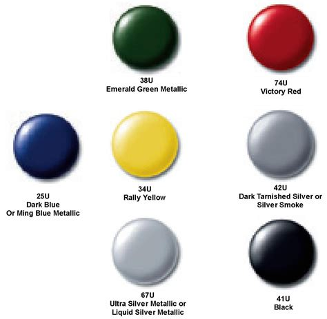 gm color chips color chip of all 7 colors auto paint