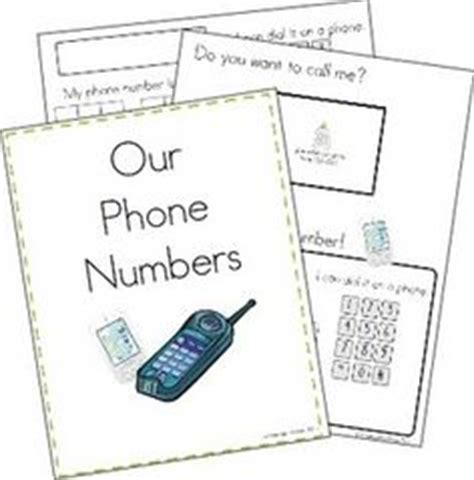 family phone number all about me on name activities worksheets