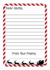 free printable letter to santa writing paper With letter to santa stationary