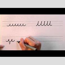 How To Write In Cursive  Lesson 1  A Complete Course  Free Worksheets Youtube