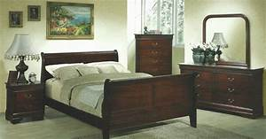 Bf1245 louis philippe bedroom set queen bargain for Bedroom furniture home bargains