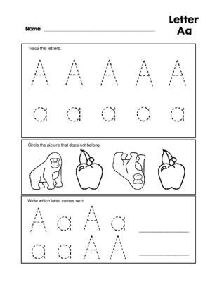 letter aa tracing practice and patterns worksheet preschool kindergarten 0 99 worksheet bin