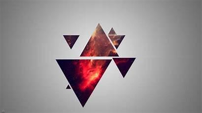 Triangle Geometry Minimalism Nebula Desktop Wallpapers Backgrounds