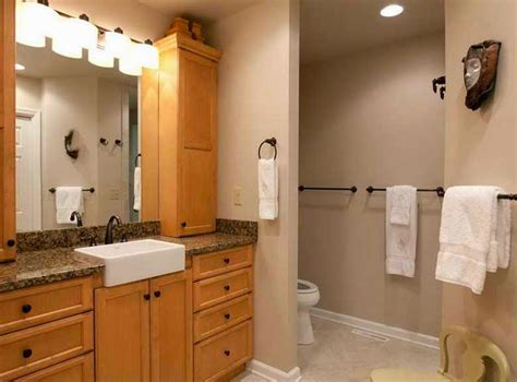 dry bathroom remodel ideas  cream paint color