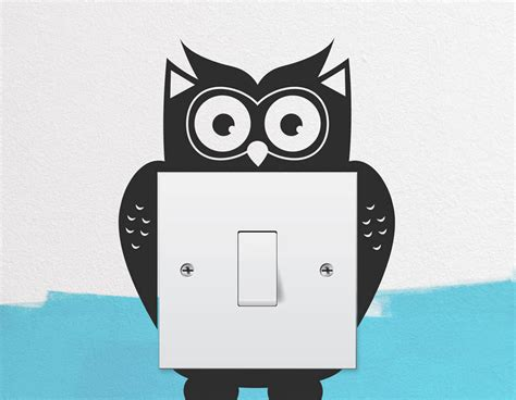 owl light switch wall sticker contemporary wall stickers