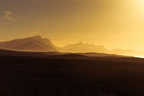 wallpaper golden hour sunset mountains hd  nature