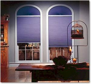 Hunter Douglas Duette Honeycomb Shades on Arch Windows