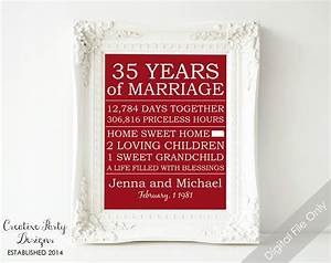 35th Anniversary Gift - Personalized Anniversary Gift for ...