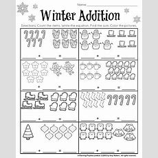 1st Grade December Math And Literacy Worksheets  First Grade Activities  Kindergarten Addition