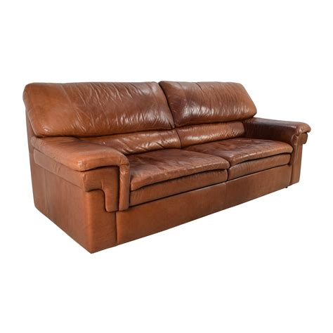 Buy Leather Sofa by 71 Classic Cherry Brown Leather Sofa Sofas