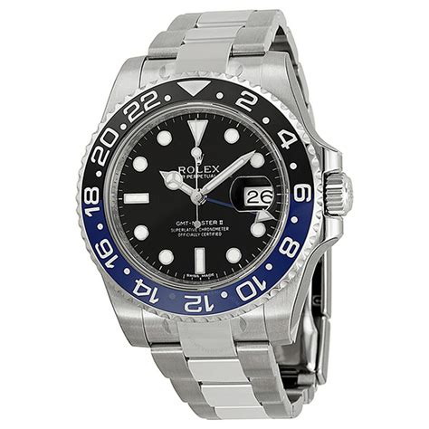 Rolex Pre-owned Rolex GMT Master II Black Dial Stainless ...