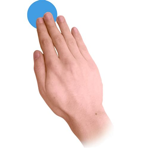 Touch Hand Png
